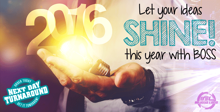 Let your big ideas shine this year with BOSS!